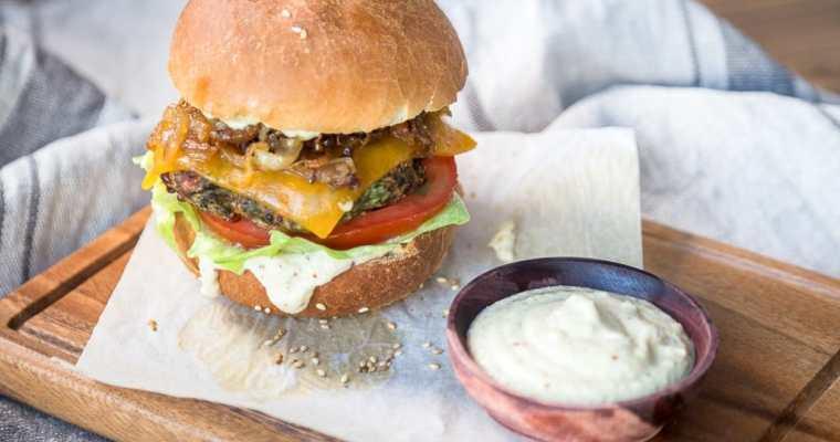 Galettes (Patties) Aubergine Cheddar – Veggie Burger