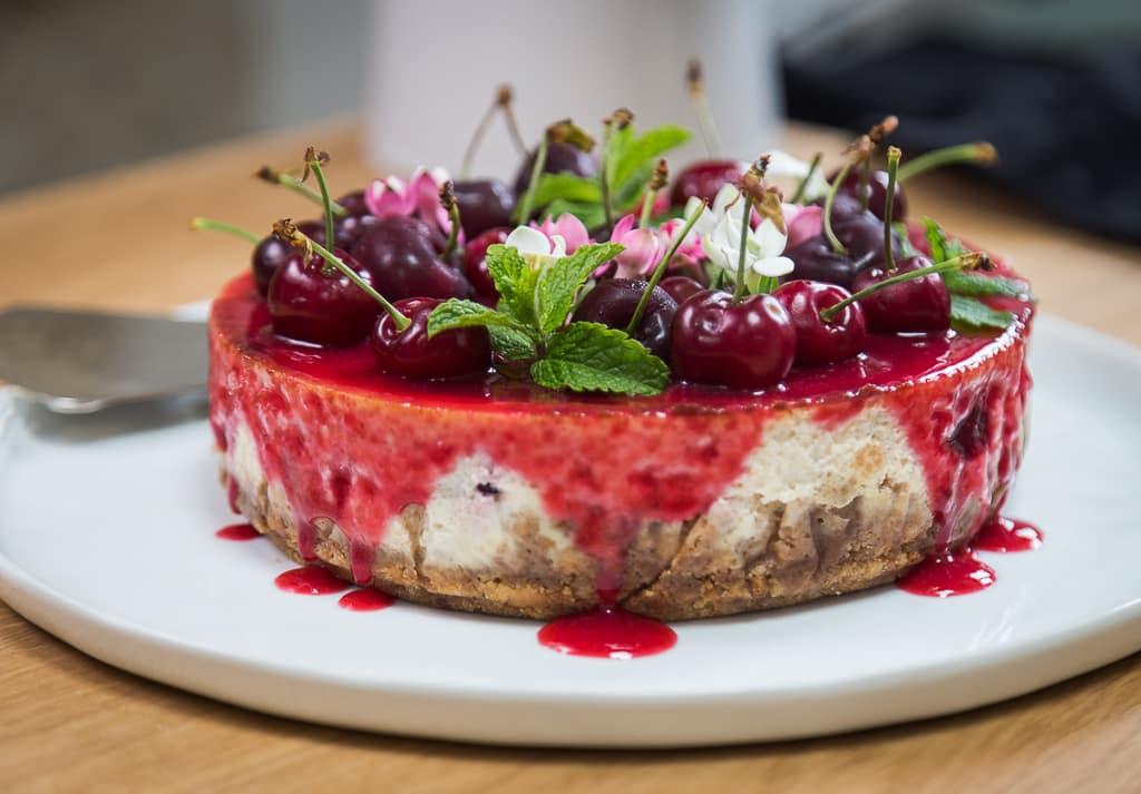 Une délicieuse recette de cheesecake à la cerise !