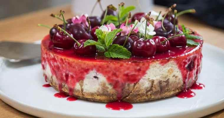Cheesecake à la cerise