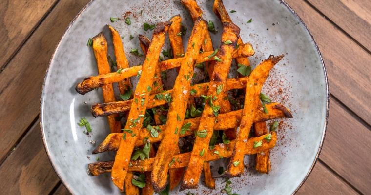 Frites de Patates Douces (Vegan et Sans Gluten)