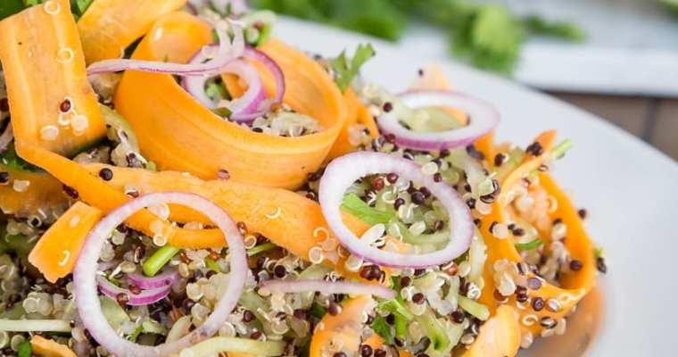 Salade Fraîche Quinoa Coriandre (Vegan, Sans Gluten)