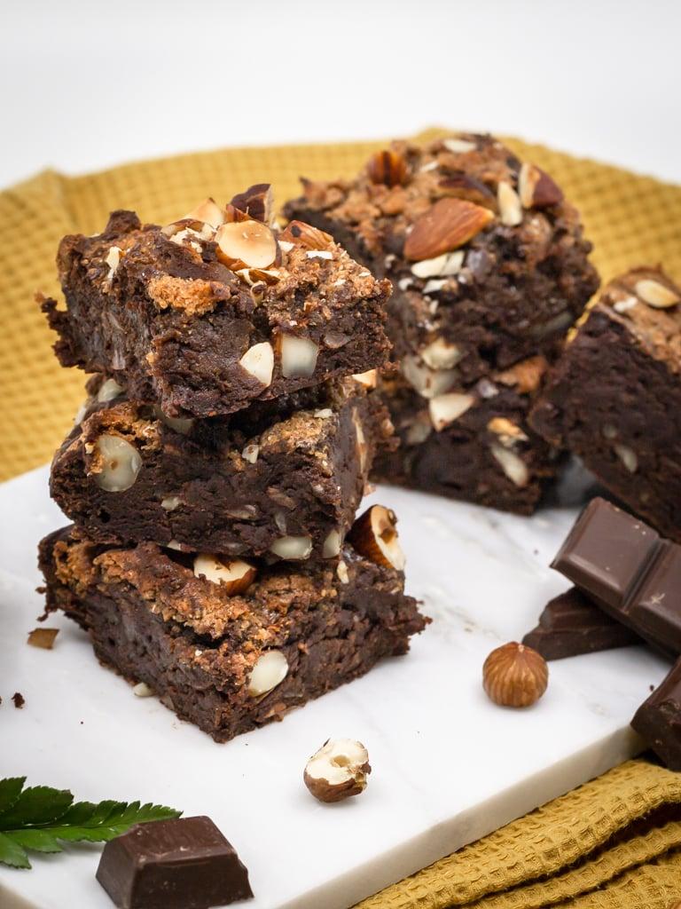 Une recette de brownies vegan à la purée d'amande ! Que du bonheur :)