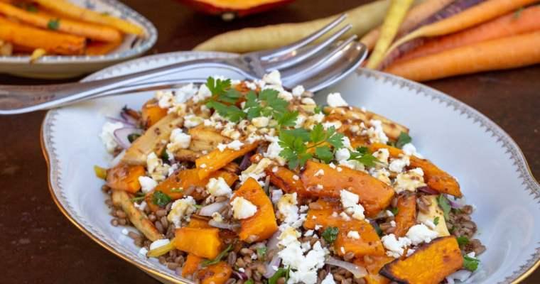 Salade d'Automne aux Légumes Rôtis