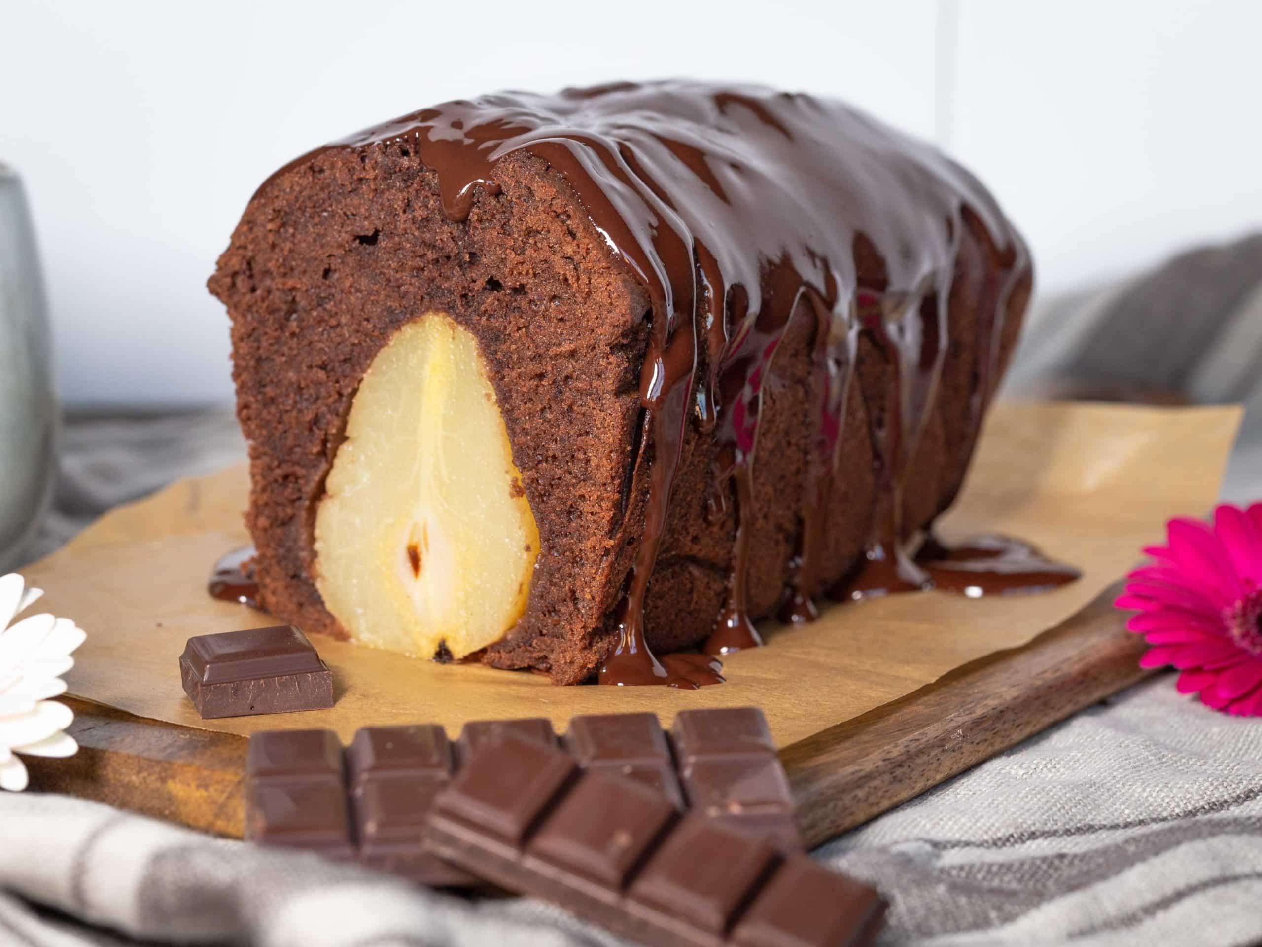 Cake Chocolat Poires Pochées