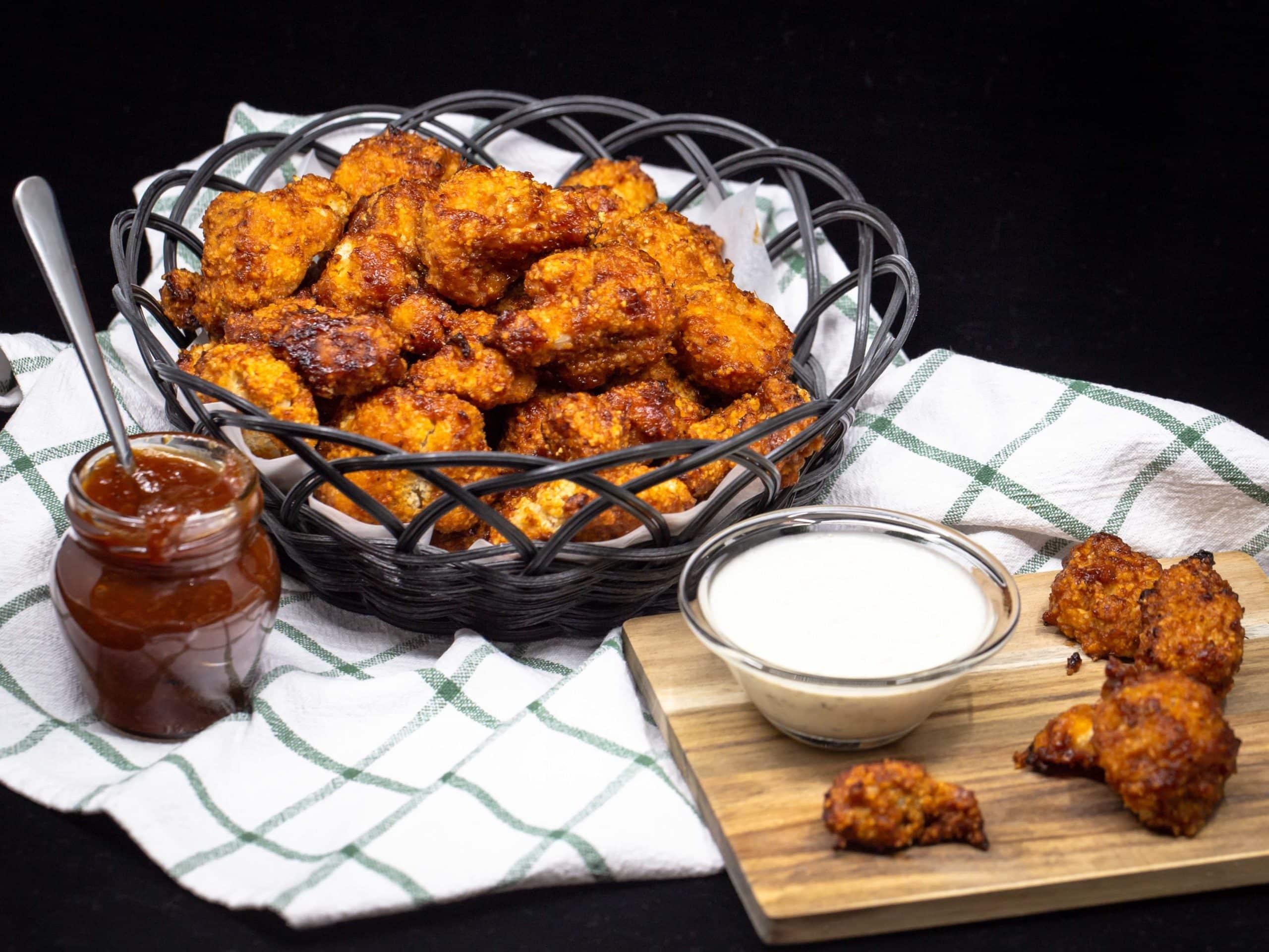 Chou Fleur Wings sauce BBQ (Végan)