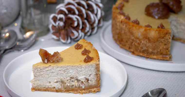Cheesecake Double Marrons