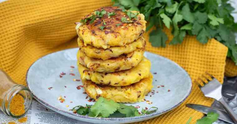 Galettes de Pommes de Terre au Curry (Vegan, Sans Gluten)