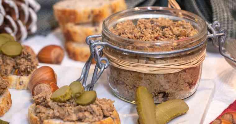 Pâté Vegan aux Cèpes et Noisettes (Sans Gluten)