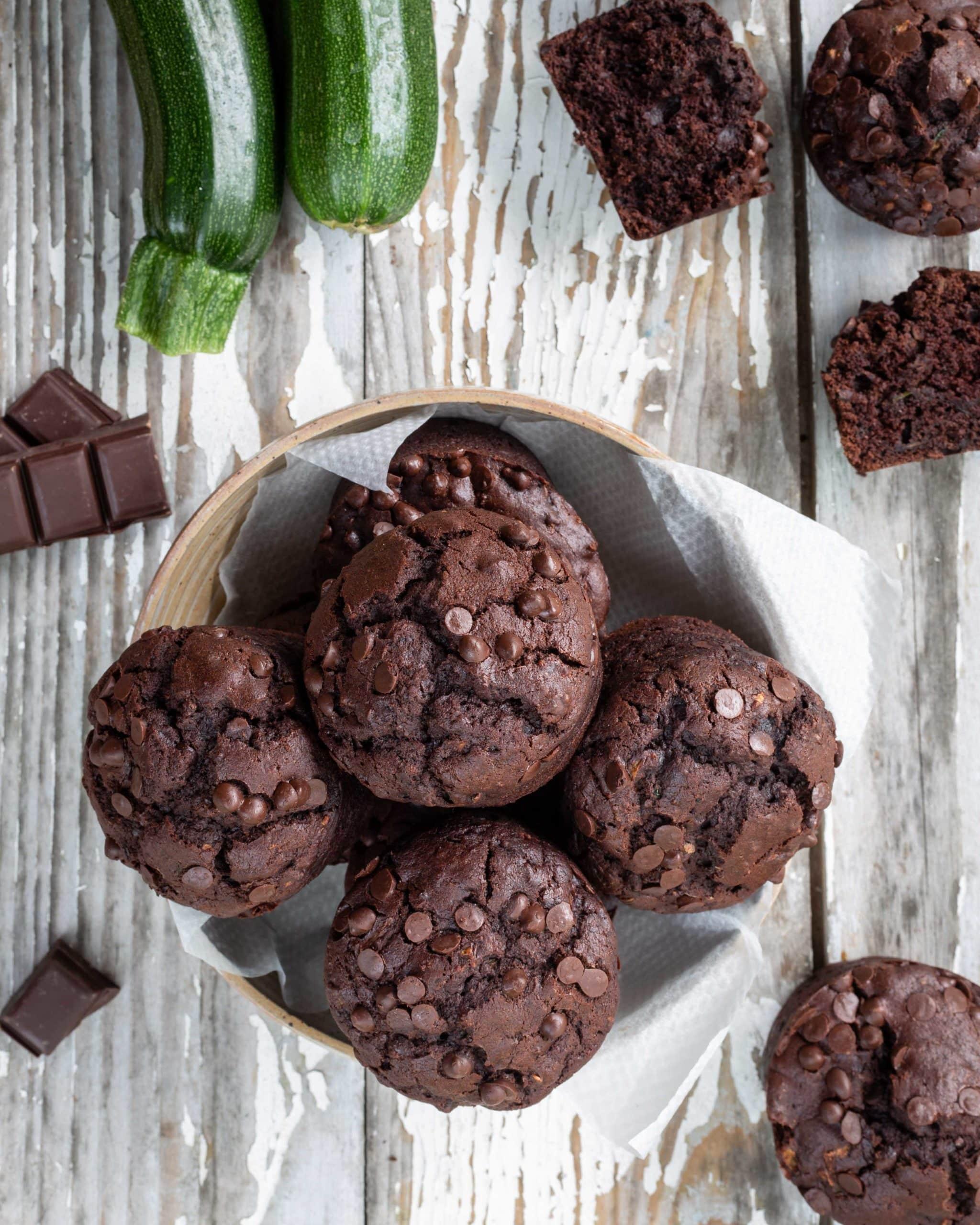 Muffins Vegan Chocolat Courgette