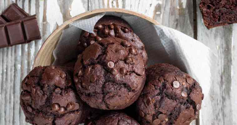Muffins Vegan Chocolat Courgette