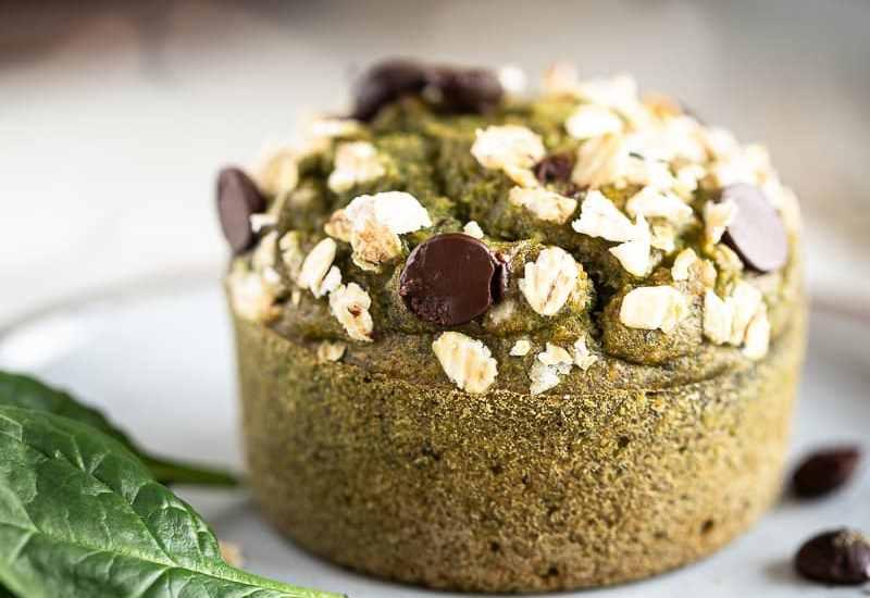 Muffins Banane Epinard (Vegan + Sans Sucré Raffiné)