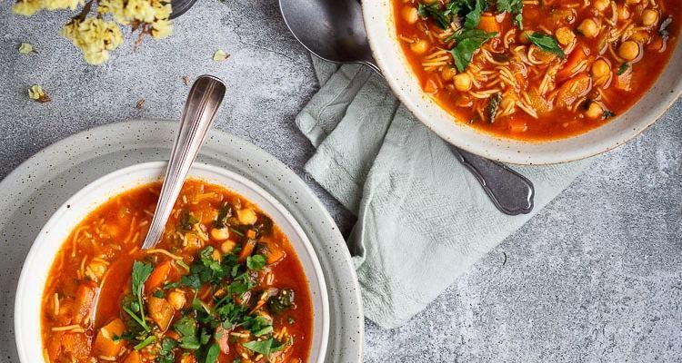 Soupe aux Pois Chiches et Légumes d'hiver façon Chorba