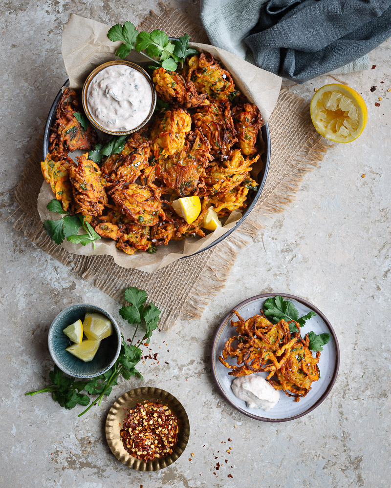 Beignets aux Oignons et aux Carottes à l'Indienne (recette vegan et sans gluten)
