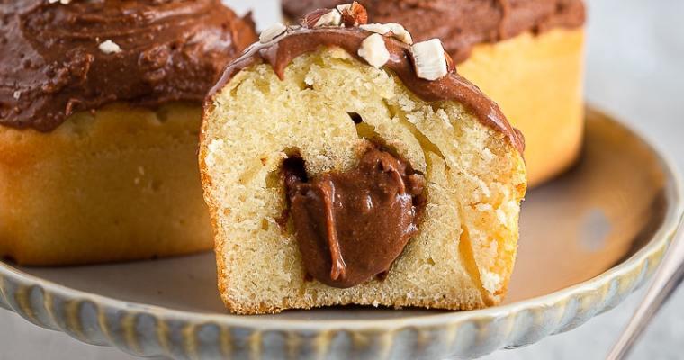 Muffins fourrés à la pâte à tartiner