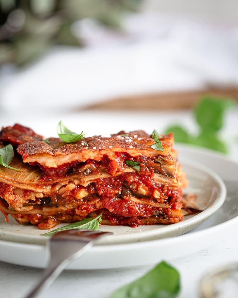 Voici ma recette fétiche de lasagnes végétariennes avec de l'aubergine et de la mozzarella !