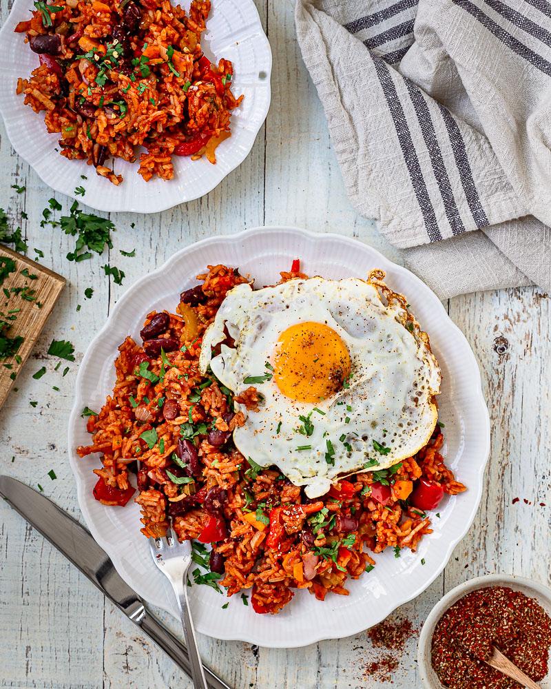Riz rouge aux épices Cajun (végétarien)