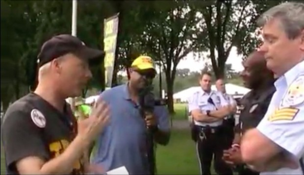 Christian street preachers clash with authorities (YouTube/Buddy Fisher)