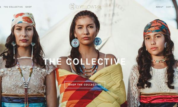 Anthony Thosh Collins - Thoshograpy.com Models: Linsay Willier (left), Shania Russell (center), and Gabrielle Lopez (right). Native fashion designer icon Bethany Yellowtail (Northern Cheyenne and Crow tribes) just launched a e-commerce retail expansion in partnership with a group of Native American artists on her website known as The B. Yellowtail Collective.