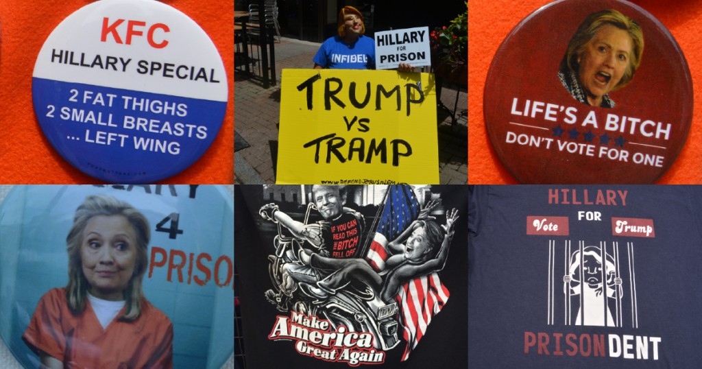 Merchandise on display outside the RNC. Credit: Kira Lerner.