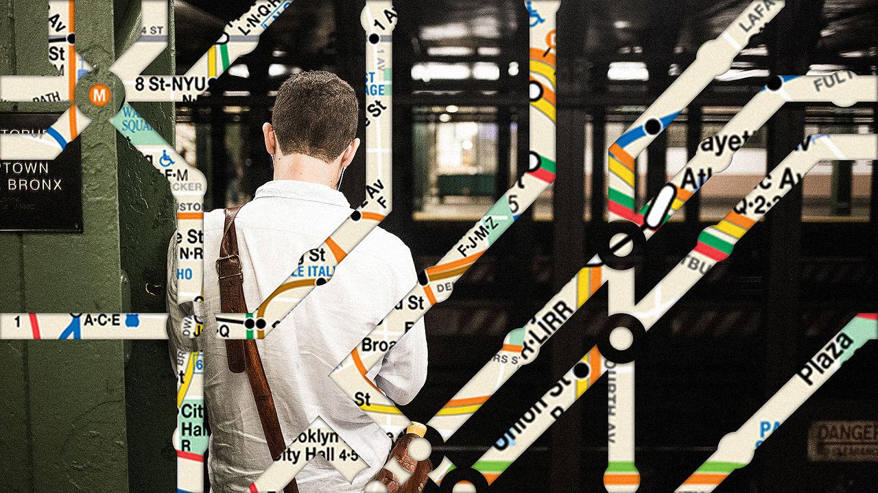 [Photo: Kirk Morales via Unsplash. Illustrations: NYC MTA/ tovovan via Shutterstock]
