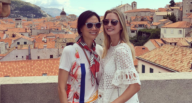 "Ivanka Trump and Wendi Deng Murdoch went ""sight seeing"" in Dubrovnik, Croatia (Photo: Instagram)."