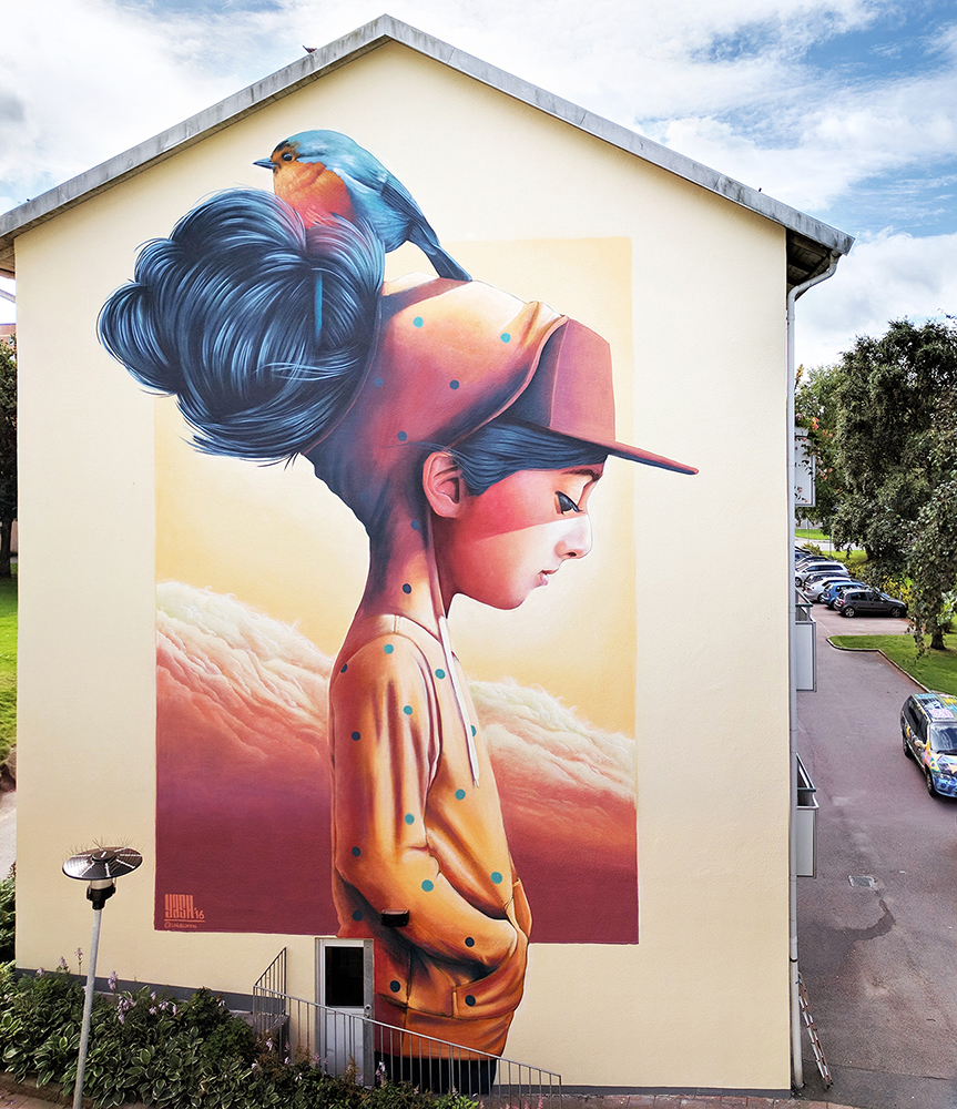 """""""Where trees don't grow"""" Wall for Artscape 2016 in Gothenburg, Sweden."""