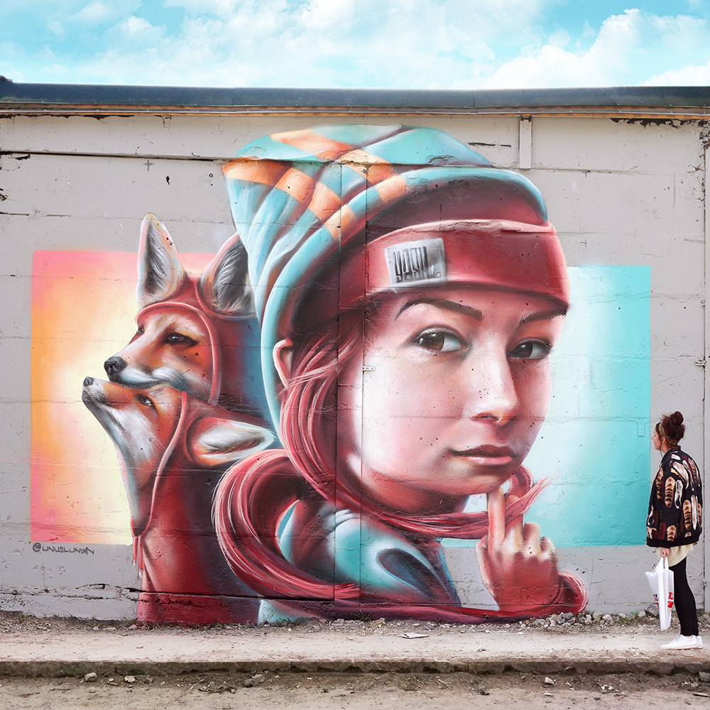 """Wall from """"Spring remake 2015"""" in Rågsved, outside Stockholm, Sweden."""