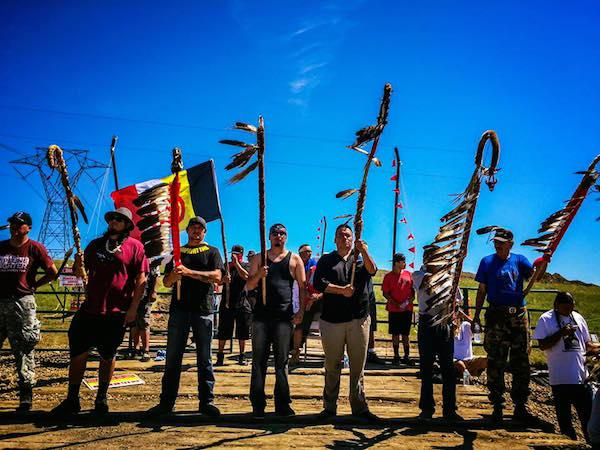 The Camp of the Sacred Stones has swelled from a few dozen to more than 2,500, according to Standing Rock Sioux Tribe officials. They are calling for further review of the Dakota Access oil pipeline, approved by the U.S. Army Corps of Engineers at the end of July without a full environmental assessment. Courtesy Little Redfeather Design/Honor the Earth.
