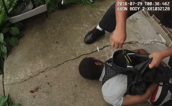 Screen shot of video footage of Chicago police shooting of 18-year-old Paul O'Neal | Video provided by IPRA.
