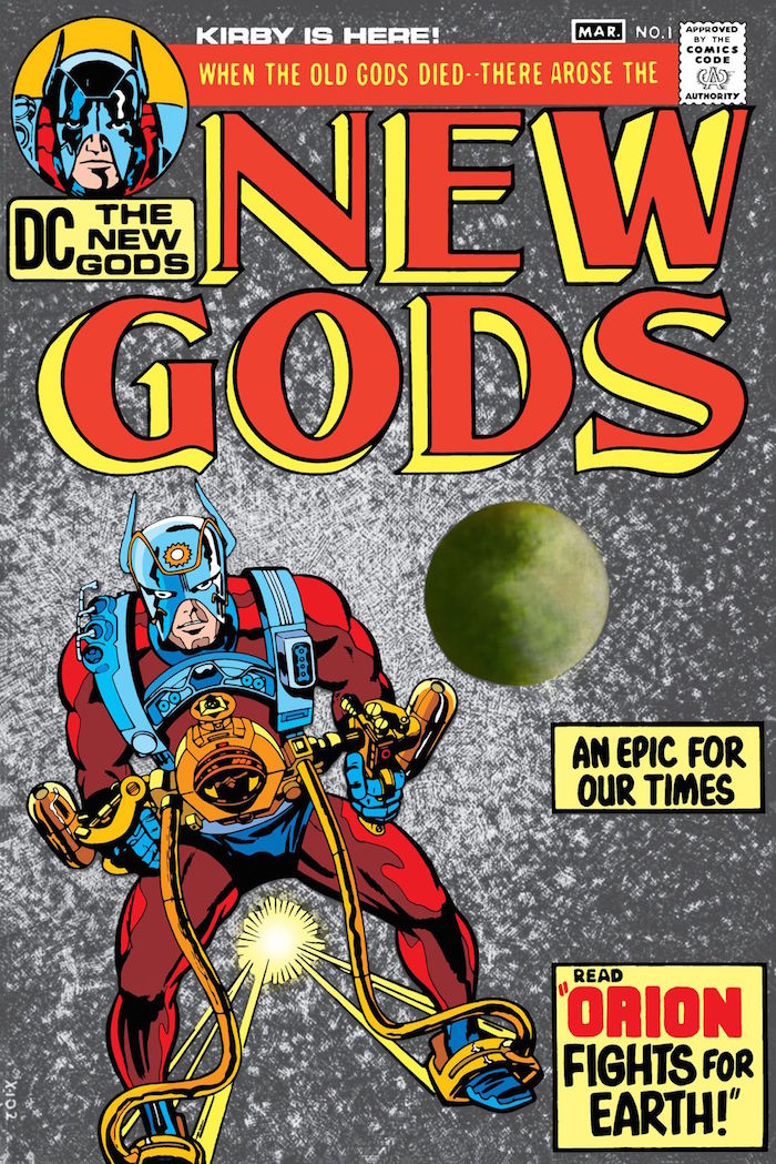 Cover for The New Gods #1. Illustrated by Jack Kirby. Photo courtesy of DC Comics.
