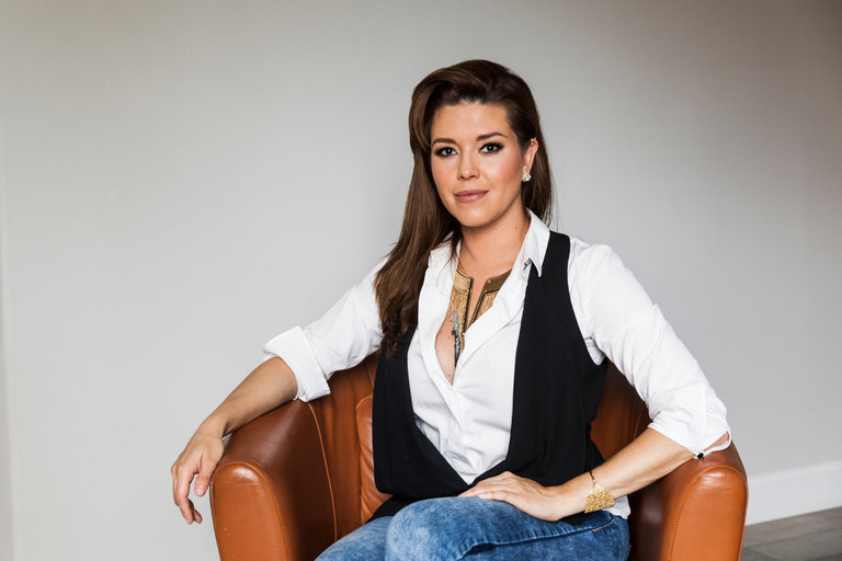 Alicia Machado, who won the Miss Universe pageant in 1996, was photographed in May of this year in Los Angeles. Credit Emily Berl for The New York Times.