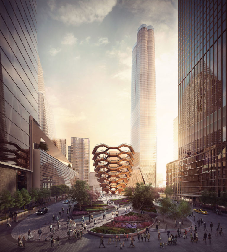 "Thomas Heatherwick Studio, rendering for ""Vessel"" (2016) (all images by and courtesy Forbes Massie)."