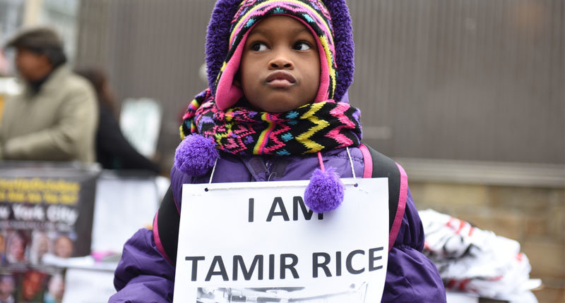 Stop Mass Incarcerations Network sponsored a children's march on the anniversary of Tamir Rice's death at the hands of the Cleveland police (a katz / Shutterstock.com)