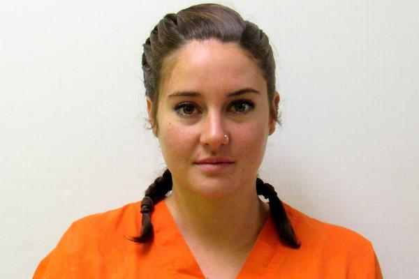 Courtesy Morton County Sheriff's Office Shailene Woodley, charged with criminal trespass during peaceful civil action against the Dakota Access oil.