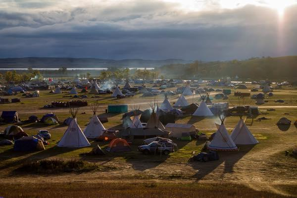 Courtesy Bucky Harjo Sunset at the new water protectors' camp in the path of the Dakota Access oil pipeline (DAPL).