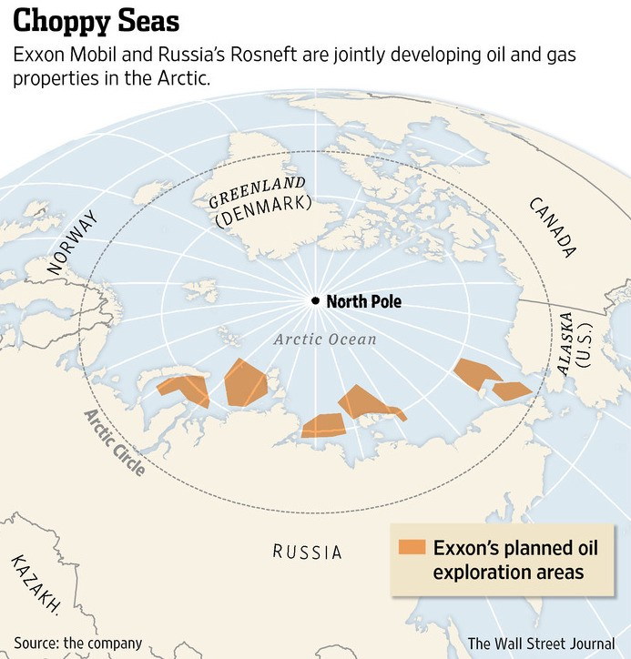 Russia's $500 billion oil deal with Exxon was killed by U.S. sanctions. CREDIT: Wall Street Journal, 9/11/2014.