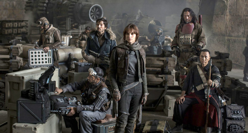 Star Wars Rogue One movie cast. Lucasfilm promotional pic.
