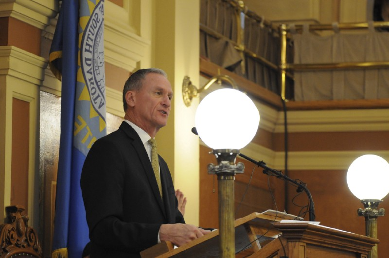 South Dakota Gov. Dennis Daugaard (R). CREDIT: AP Photo/James Nord.