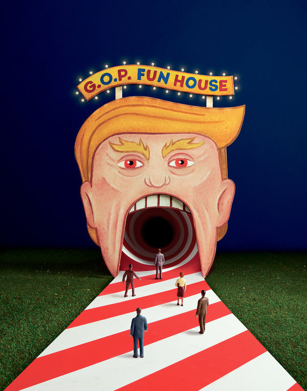 Photo illustration by Sagmeister & Walsh. Set painters: Colossal Media.