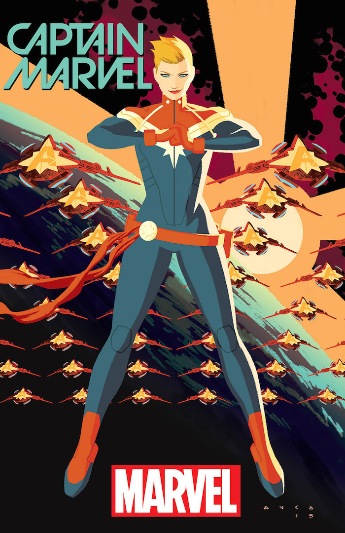 Cover for Captain Marvel #1. Cover illustrated by Kris Anka. Photo courtesy of Marvel Entertainment.
