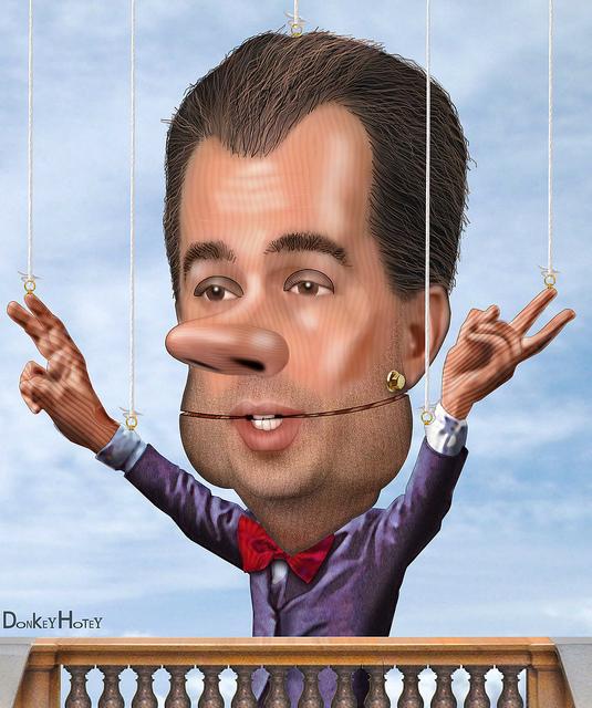 Scott Walker, ALEC marionette. Credit: Donkey