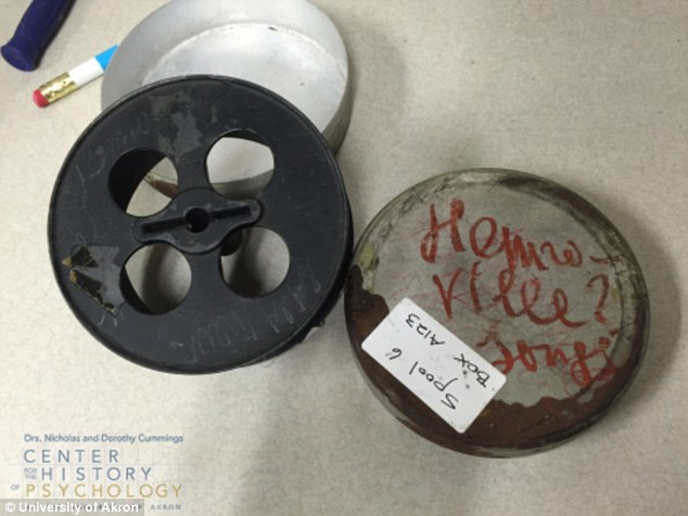 A photo of the lost spool. Photo: University of Akron.