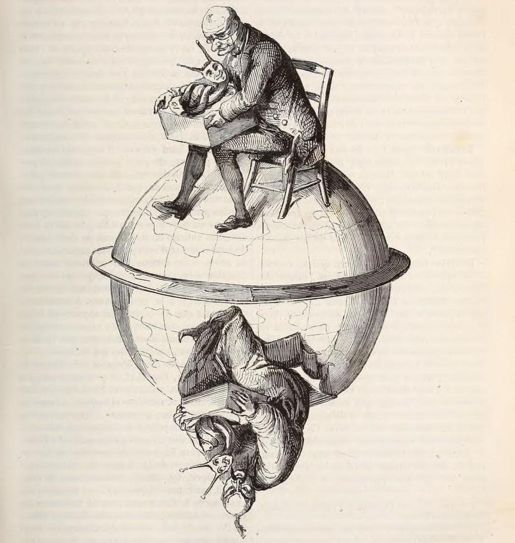 Escargots. Jacques Collin de Plancy - Dictionnaire infernal.