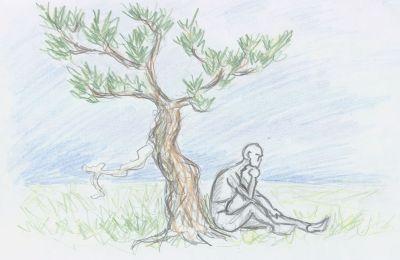 Thinking under a tree