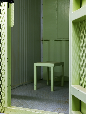 "Edmund Clark, ""Camp 1, isolation unit"" from the series Guantanamo: If the Light Goes Out (2009) (© Edmund Clark)."
