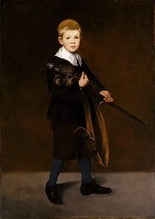 L'Enfant à l'épée'' par Edouard Manet, 1861.