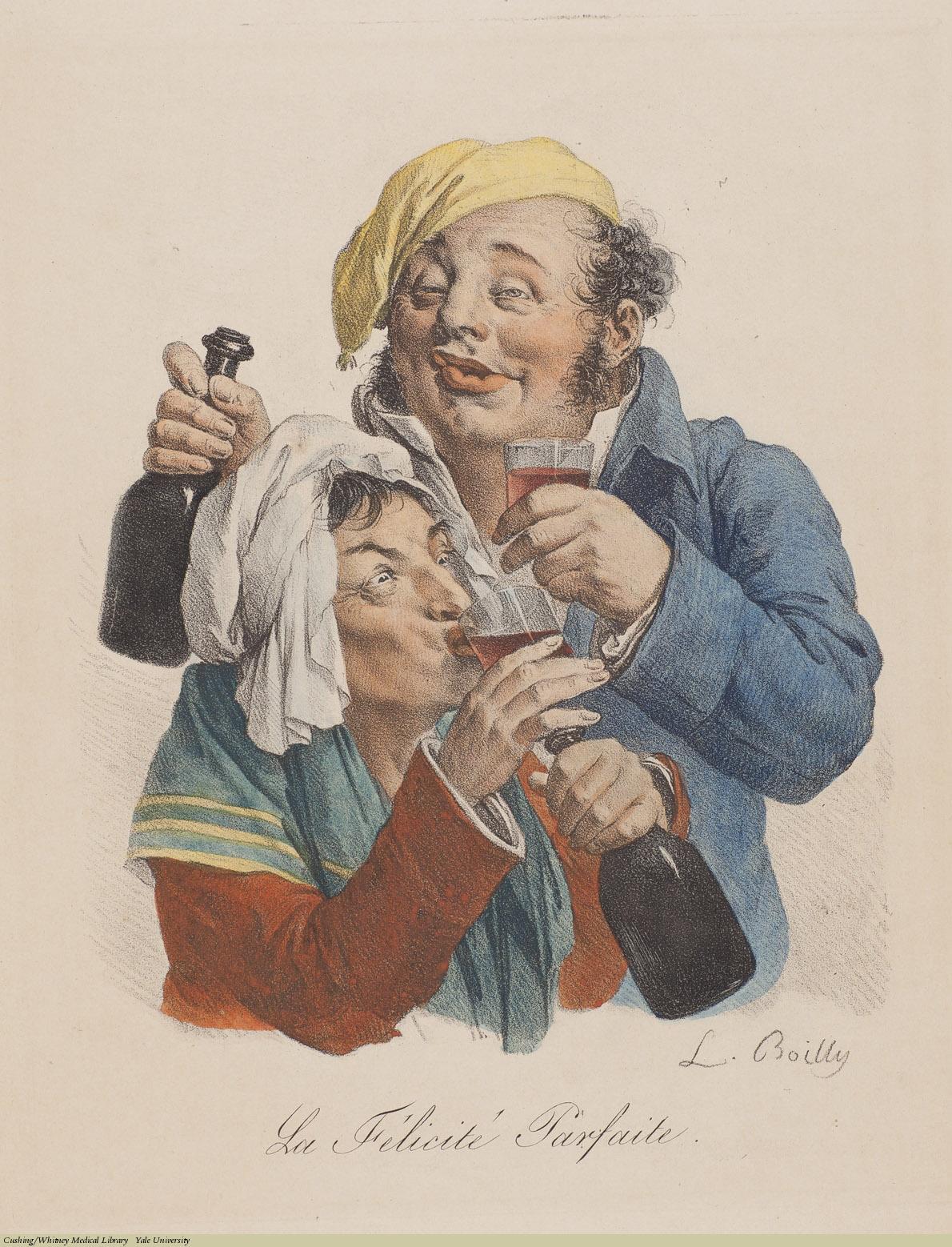 La Felicité Parfaite, Louis-Léopold Boilly, Lithograph.