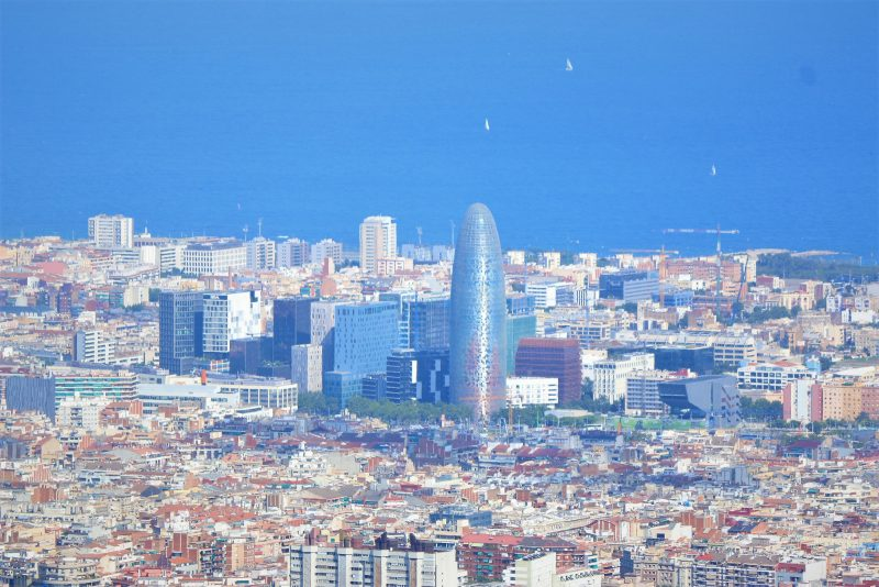 Panoramic view of the Torre Agbar.