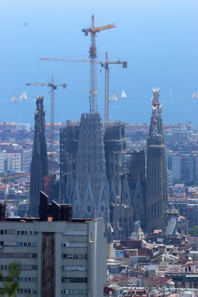 Panoramic view of the Sagrada Familia