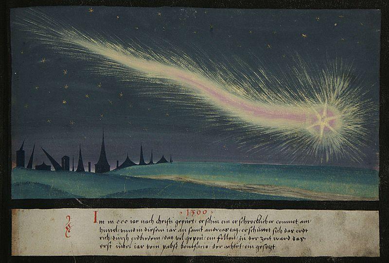 Augsburger Wunderzeichenbuch, Folio 52 (erschrocklicher Comet, 1300) – Source
